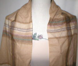 NWT $450 New Ralph Lauren Purple Label Collection Cashmere Scarf Mens Womens Tan
