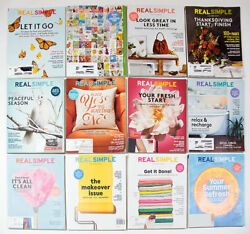 REAL SIMPLE MAGAZINE 2015 2016 2017  YEAR LOT OF 12 ORGANIZING HOME FINANCE LIFE