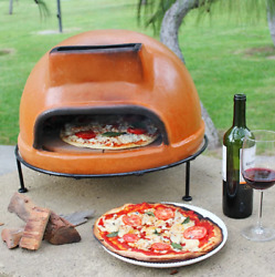 Portable Pizza Oven Cooker Wood Burning Homemade Personal Chimney Outdoor Kitche