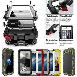 U.S Aluminum Defender Shock Waterproof Metal Case Cover For Samsung Galaxy Phone