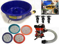 BLUE BOWL PAN GOLD Prospecting CONCENTRATOR 4 Classifiers PUMP LEVELER KIT DVD $219.95