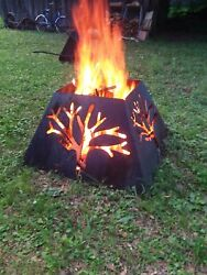 Made In USA CUSTOM CNC Cut Fire Pit Outdoor Backyard Fireplace