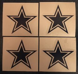 Dallas Cowboys Star 2quot;x2quot; 4 Pack Decal**FREE SHIPPING** $2.49