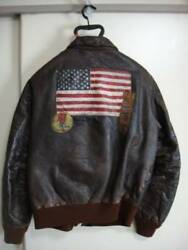 AVIREX Type A-2 Patch Patch work USA Military Leather Outerwear Flight Jacket 42