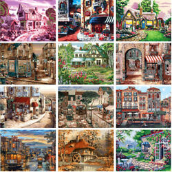 DIY Scenery Buildings Boats Paint By Number Kit Oil Painting Art Wall Home Decor