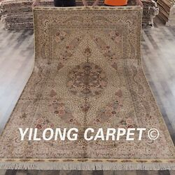 YILONG 6'x9' Handknotted Silk Carpet Persian Family Room Oriental Area Rug 648A