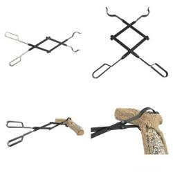 Campfire Tongs Fireplace Log Grabber Fire Pit Outdoor Tools 26 Inch Heavy Duty