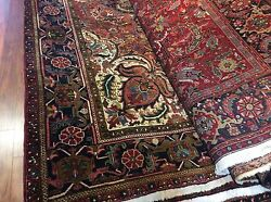 AUTHENTIC VINTAGE PERSIAN HERIZ ORIENTAL RUG HAND KNOTTED