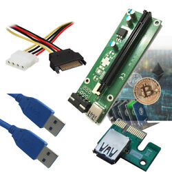 PCI Riser board adapter kit for mining Litecoin ethereum Dash coin USB 3.0 $7.99