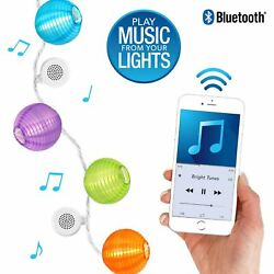 String Decorative LED Lights Bulb By Bright Tunes with Bluetooth Speakers White