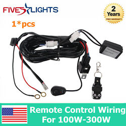 1X Remote Control Wiring Harness Kit Switch Relay Led Light Bar For 100W-300W 2M $14.28