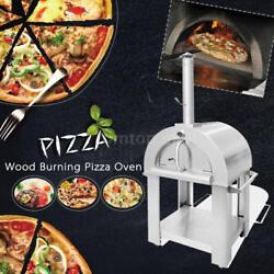 Stainless Steel Pizza Oven BBQ Grill Wood Burning Heater Outdoor Patio Top P8U7