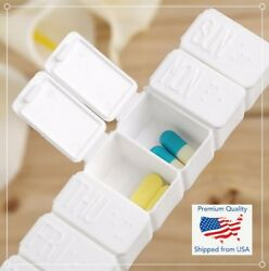 7 Day Tablet Pill Box Holder Weekly Medicine Storage Organizer Container Case 5