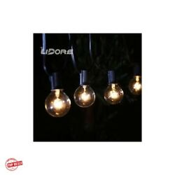 Round Patio String Lights Small Heavy Duty Exterior Best Garden Long Black 25ft
