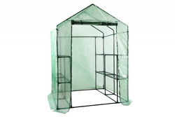Walk in Portable Garden Greenhouse Mini Plants Shed Hot House with 3 Tiers 12 Sh