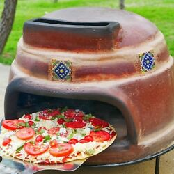 Pizza Oven Outdoor Small Fireplace Portable Wood-Fired Clay Countertop Cooking