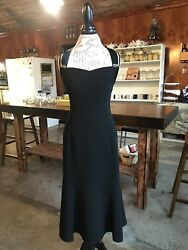 party dress long evening black $50.00