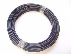 BLACK Vinyl Coated STAINLESS STEEL Cable 18