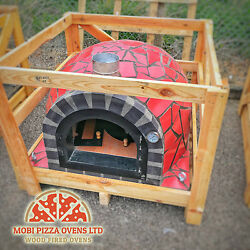 AMAZING OUTDOOR GARDEN BRICK WOOD FIRED PIZZA OVEN 100x100 RED MOSAIC MODEL