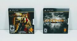 Sony PSP ~ GOD OF WAR 2-PACK ~Chains of Olympus Ghost of Sparta~ Full Games NEW