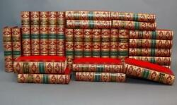 1874 Works Of Charles Dickens 30vols Cruikshank Illustrated Fine Bayntun Binding