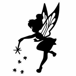 Disney Peter Pan Tink Tinkerbell Black 22quot; wall living room decal sticker $22.99