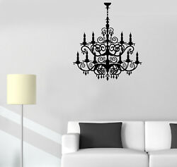 Vinyl Wall Decal Chandelier Room Decoration Lighting House Stickers 2340ig $21.99
