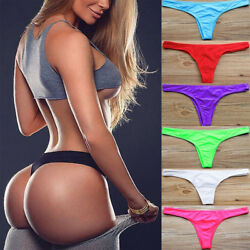 Women#x27;s Sexy Bikini Cheeky V Micro Thong Brazilian Bottom Bathing Beach Swimwear $7.51