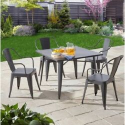 5 Piece Outdoor Dining Set Patio Furniture Table and Chairs Seats 4 Garden Deck