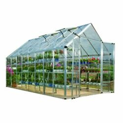 Greenhouses Silver 8x16 Ft. Polycarbonate Clear Panels Double Doors