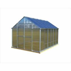 Greenhouses Aluminum Finish 8x12 Ft. Twin-Wall Polycarbonate A-Frame Roof Design