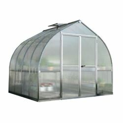 Greenhouse Silver Twin-Wall Polycarbonate Panels 8x8  Bell Shaped Double Door