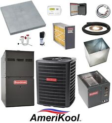 UP-FLOW_MOST COMPLETE 80% 60k btu Gas Furnace & 2 Ton 13 SEER AC + EXTRAS
