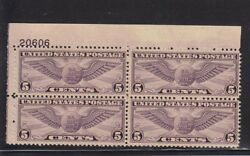 C16 VF TOP plate block original gum mint never hinged nice color ! see pic !