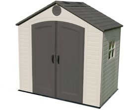 Lifetime Storage Shed Outdoor Plastic Design Steel Style Wood Flat Shelving