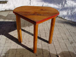 Great 1930's One of a Kind Drop Leaf Pine Log Corner Table ~ Cabin Lodge Decor