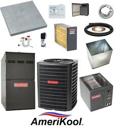 UP-FLOW_MOST COMPLETE 80% 2-Stg 60k btu Furnace & 1.5 Ton 13 SEER AC + EXTRAS