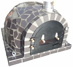 AMAZING OUTDOOR GARDEN BRICK WOOD FIRED PIZZA OVEN 100x100 GREY MOSAIC MODEL