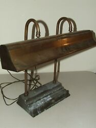 Vintage Working 1940's Art Deco Industrial Funeral Home Desk Table Lamp