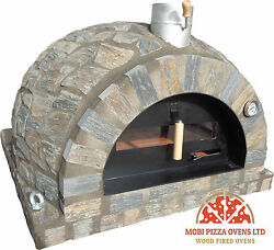 AMAZING OUTDOOR GARDEN BRICK WOOD FIRED PIZZA OVEN 100x100 GREY STONE MODEL