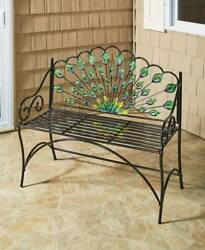 Peacock Bench - Decorative Seating for Lawns and Gardens