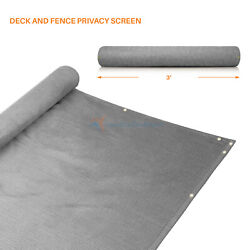 Gray 3#x27;x 15#x27; 25#x27; 50#x27; Feet Privacy Fence Deck Screen Yard Shade Home Patio Cover $40.47