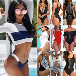 Women One Piece Beach Swimsuit Swimwear Bathing Cover Up Monokini Push Up Bikini $10.99