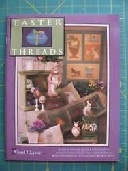"Need'l Love ""Easter Threads"" Quilt Wool Applique Penny Rug Hooking Pattern Book"