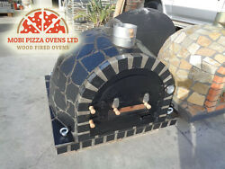 AMAZING CLAY WOOD FIRED OUTDOOR GARDEN PIZZA OVEN 100x100 BLACK STONE SLATE