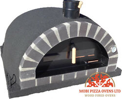 AMAZING OUTDOOR GARDEN BRICK WOOD FIRED PIZZA OVEN 110x110 BLACK CORK MODEL