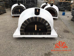 AMAZING OUTDOOR GARDEN BRICK WOOD FIRED PIZZA OVEN 110x110 WHITE MODEL
