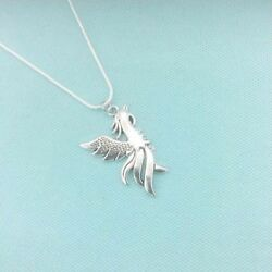 HP Theme; Beautiful Silver PHOENIX IN FLIGHT Charm 24quot; Necklace. $14.99