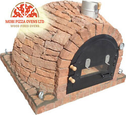 AMAZING CLAY WOOD FIRED OUTDOOR GARDEN PIZZA OVEN 100x100 RED STONE MODEL