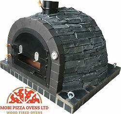 AMAZING CLAY WOOD FIRED OUTDOOR GARDEN PIZZA OVEN 100x100 BLACK STONE MODEL